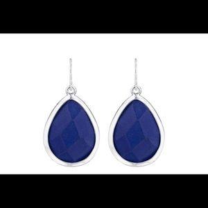 Minaret Blue Jade Tear Drop Earrings